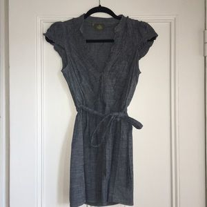 Dresses & Skirts - Denim Styled A-lined Dress/Shirt/Tunic with Belt